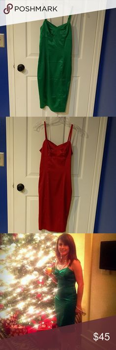 Bundle of Shoe Dazzle Dress Two beautiful sexy dress you can wear to a Christmas party or New Years or out on the town. Both only worn once. Shoe Dazzle Dresses
