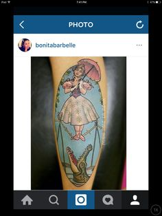 Latest tattoo! Disneyland Haunted Mansion Tightrope Girl by Miss Mae LaRoux