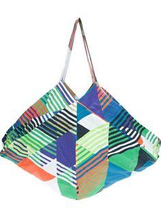 giant tot bag, geometric print, by tiedeken