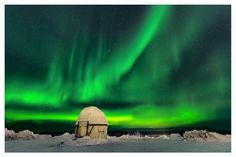 """Fresh photo of this nights #Aurora Borealis taken from Kiruna in N Sweden! """"The sky went nuts for a little while with green lights all around, amazing! """""""