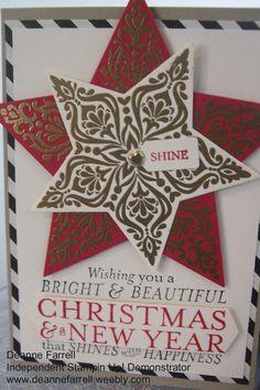Stampin Up! Bright & Beautiful Bundle Christmas Card