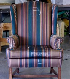 how to tear down a winbgack chair for reupholstery...the correct way