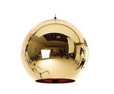 Подвесной светильник - металл - золотой - Д45