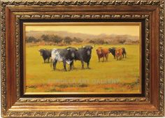 Pastor : Toros en el campo. Medium: Oil on canvas Measurements (cm): 77x55 Canvas measurements (cm): 55x33 Interior frame: Yes. The relief that achieves in the vibrant fortunes of the fight has a delicate continuity with cowboy scenes, in which he perfectly combines the landscape with cattle, horses and performers of the store.  $793.14