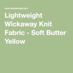 Lightweight Wickaway Knit Fabric - Soft Butter Yellow