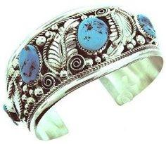 USA Made by Navajo Artist Ida McCray: Beautiful! Navajo Jewelry, Southwest Jewelry, Sterling Silver Jewelry, Turquoise Cuff, Turquoise Jewelry, Turquoise Bracelet, Turquoise Color, Bracelets For Men, Fashion Bracelets