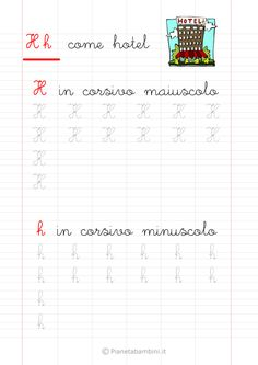 Schede di Pregrafismo delle Lettere dell'Alfabeto da Stampare | PianetaBambini.it Montessori, Italian Language, Alphabet, Homeschool, Diagram, Words, David, Veronica, Script