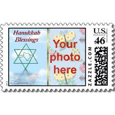 Hanukkah photo postage stamp Peace Dove