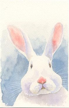 """Puzzling Bunny"" - Original Fine Art for Sale - © Hui (Hue) Li"