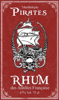 Label bottle Halloween Apothecary : Rhum pirate / Rum pirate Printable