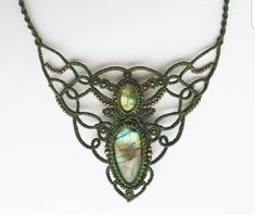 Stunning labradorite macrame necklace The necklace is adjustable with a sliding knot so you can easily change the length. Macrame Necklace, Macrame Jewelry, Gemstone Necklace, Diy Jewelry, Turquoise Necklace, Jewelry Necklaces, Crystal Healing Stones, Crystal Beads, Crystals