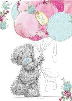 Tatty Teddy Holding Balloons Birthday Me to You Bear Card Tatty Teddy, Happy Birthday Images, Happy Birthday Greetings, Teddy Pictures, Bear Card, Blue Nose Friends, Cute Teddy Bears, Happy B Day, Birthday Balloons