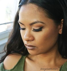 Now that the weather is starting to cool down here in the Bay Area, I figured I could create a look using a grey toned lipstick and dramatic winged look on the eyes. For more details, check out my blog: www.AngelieH.com
