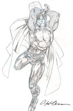 Thor by Stuart Immonen (via @brianmbendis) >
