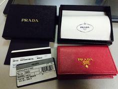 Closets - PRADA   saffiano card holder (sale)