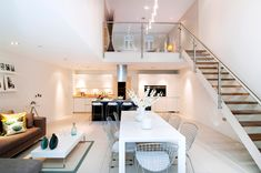 kitchen living dining 2 Exquisite House in London With Double Volume Space by LLI Design