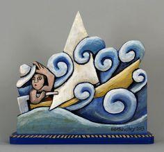 Painted Jars, Painted Rocks, Ceramics Projects, Art Projects, Ceramic Pottery, Ceramic Art, Pottery Houses, San Bernardo, Mary Shelley