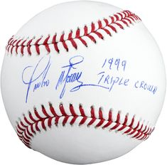 90ca879ff0e Pedro Martinez Boston Red Sox Autographed Baseball with Triple Crown  Inscription