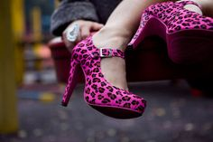 Pink Leopard Heels: I don't normally like animal print, but these are cute!