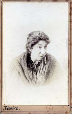 Unidentified Photographer Creator Portrait Of A Female Psychiatric Patient Idiotie Ca Carte De Visite Private Collection John Toohey