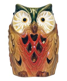 Look at this Owl Ceramic LED Light on #zulily today!