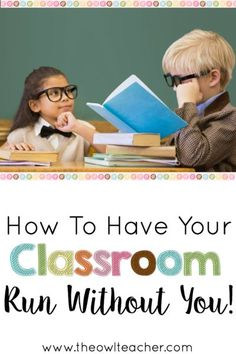 Check out these classroom management tips and ideas on how you can have your classroom manage itself efficiently and effectively without you!
