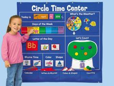 Circle Time Learning Center $79.95  Give kids daily practice with calendar concepts, the alphabet, counting & more—and help the whole class build literacy skills together!