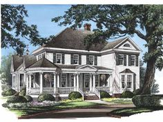 Eplans Farmhouse House Plan - Salisbury - 2825 Square Feet and 4 Bedrooms from Eplans - House Plan Code HWEPL08608