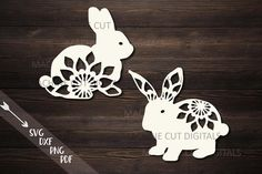 Our beautiful range of SVG cutting files and images are perfect for crafting, whether you're a professional or not. All SVG images come with personal and commercial licenses. Paper Cut Design, Laser Cut Files, Monogram Fonts, Layers Design, Easter Bunny, Easter Sale, Design Bundles, Design Elements, Mandala