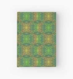 """""""""""Oak King"""", bohemian pattern in yellow and green tones"""" Hardcover Journals by clipsocallipso 