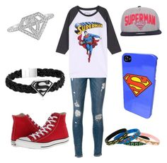 """superman"" by wowthatsalongname ❤ liked on Polyvore"