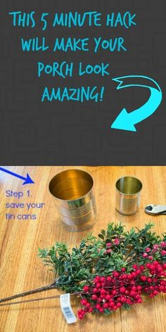 This is SO cool! | diy home decor | diy front porch idea with tin cans | #homedecor | sponsored