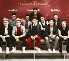 One Direction: Madame Tussauds waxworks of Harry Styles, Louis Tomlinson, Niall Horan, Zayn Malik & Liam Payne revealed One Direction Fotos, Four One Direction, One Direction Pictures, Zayn Malik, Niall Horan, Madame Tussauds, Liam Payne, Gifs Musica, Louis Tomlinson