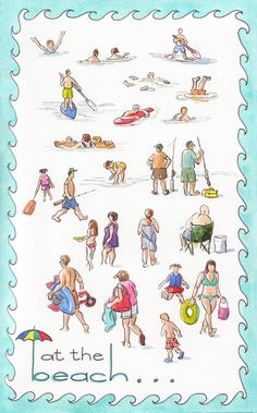 WAVE border - What could be more perfect for a beach sketch than a wave border?