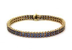 14K Yogo Sapphire Bracelet | The Gem Gallery