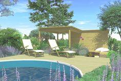 Pohled na terasu u bazénu Family Garden, Outdoor Decor, Home Decor, Decoration Home, Room Decor, Home Interior Design, Home Decoration, Interior Design