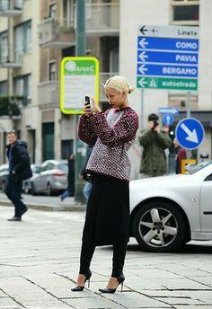Street styles en Milan Fashion Week 2014
