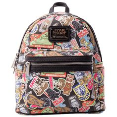 Star Wars - Character Stickers Loungefly Mini Backpack - ZiNG Pop Culture b0bac8cd7a23f