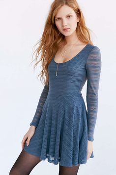 Urban Outfitters Kimchi dress, black sheer tights