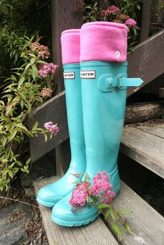 SLUGS Fleece Rain Boot Liners Solid Pink, Gift Under 25 Fleece Socks, Wellington Boot Socks, Winter Fashion, Gardening,  (Sm/Med 6-8 Boot). $22.00, via Etsy.