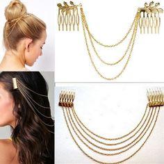 Chain Headband Women Hair Accessories Clip Hair Comb