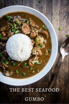 This Louisiana Seafood Gumbo with Okra is packed full of seafood including shrimp, crawfish, oysters, crab and andouille sausage - plus it only takes 40 minutes to make! new orleans style gumbo Okra Gumbo, Shrimp Gumbo, Seafood Gumbo, Crawfish Gumbo Recipe, Cajun Gumbo, Okra Recipes, Cajun Recipes, Seafood Recipes, Gumbo Recipes