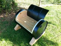 drum seat that hubby built.   New Zealand