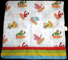 Yo Gabba Gabba Crib Toddler Bed Size FLAT sheet Fabric Cutter #YoGabbaGabba