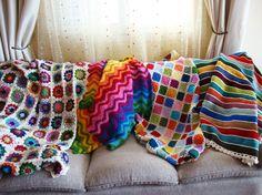4 blankets crochet