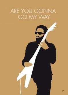 No050 MY LENNY KRAVITZ Minimal Music poster. Are You Gonna Go My Way is the third studio album by American rock musician Lenny Kravitz, released on March 9, 1993 by Virgin Records America.