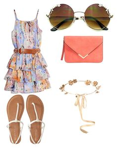 """""""Summer sunday"""" by molly-grace-lindsey ❤ liked on Polyvore featuring GUESS by Marciano, Eugenia Kim and Aéropostale"""