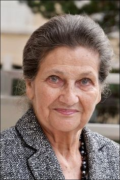 Simone Veille - She is a French lawyer and politician who served as Minister of Health and became the first woman President of the European Parliament. She is a survivor from the Auschwitz-Birkenau concentration camp where she lost part of her family. She is best known for legalizing abortion in France in 1975.