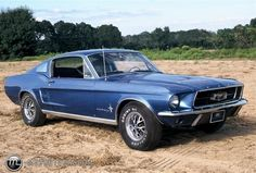 1967 blue Ford Mustang Fastback