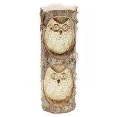 """BURUNG OWL CARVING Handcarved from crocodile wood, this sculpture sits 10"""" high. Handmade by talented artisans in developing countries. Imported."""